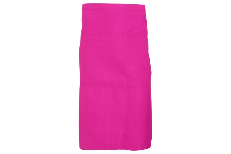 Dennys Adults Unisex Catering Waist Apron With Pocket (Hot Pink) (One Size)