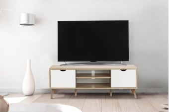Shangri-La TV Entertainment Unit - Nyhavn Collection (140cm, White & Oak)