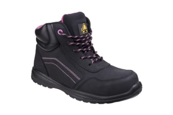 Amblers Safety Womens/Ladies Composite Safety Boots With Side Zip (Black)