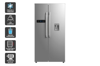 Kogan 584L Side by Side Stainless Steel Fridge