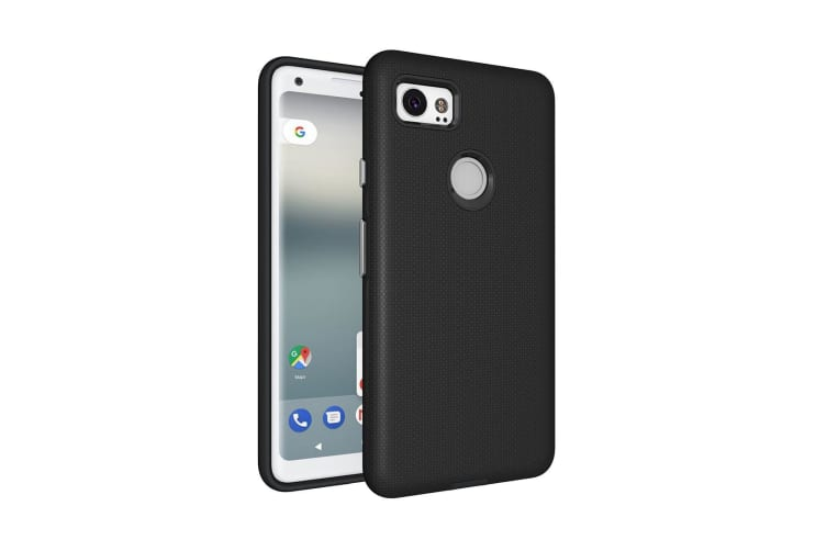 For Google Pixel 2 XL Case Strong Styled Armour High-Quality Durable Cover Black