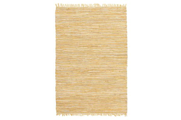 Bondi Leather and Jute Rug Yellow 320x230cm