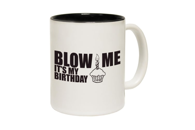 123T Funny Mugs - Blow Me - Black Coffee Cup