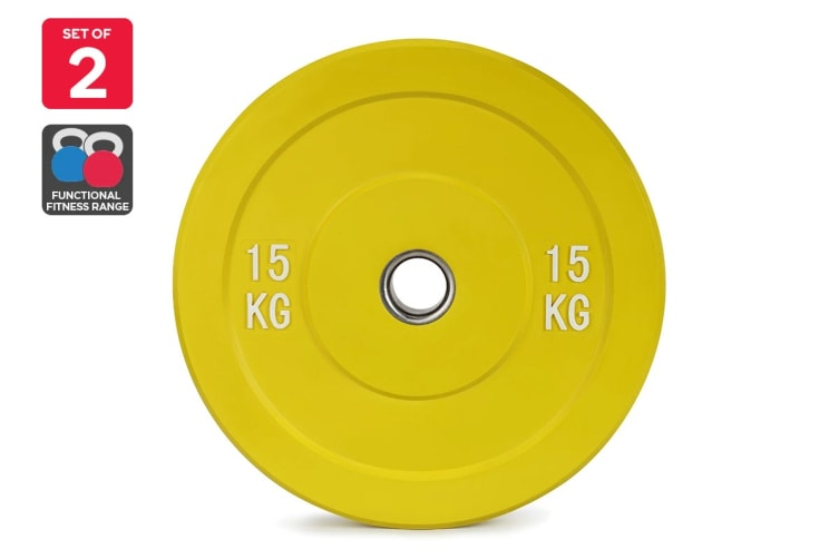Set of 2 Fortis Bumper Weight Plate (15KG)