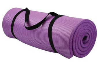 15MM Thick Yoga Mat Non Slip Durable Exercise Fitness Gym Mat Lose Weight Pad Purple