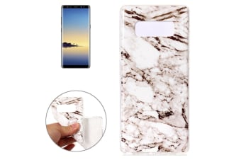 For Samsung Galaxy Note 8 Back Case Modern Marble Durable Protective Cover White
