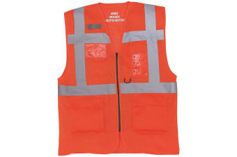 Yoko Mens Cool Mesh Hi-Vis Safety Vest (Hi Vis Orange) (XL)