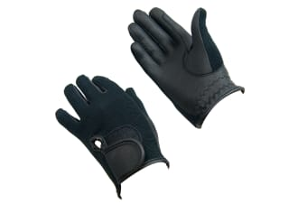 Bitz Unisex Adults Synthetic Leather Gloves (Black)