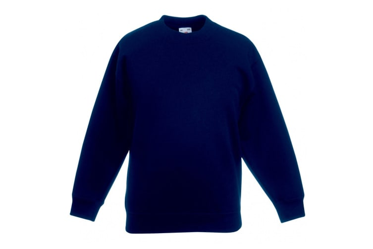 Fruit Of The Loom Kids Unisex Premium 70/30 Sweatshirt (Pack of 2) (Deep Navy) (14-15 Years)