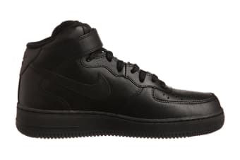 Nike Men's Air Force 1 Mid '07 Shoe (Black/Black, Size 10.5)