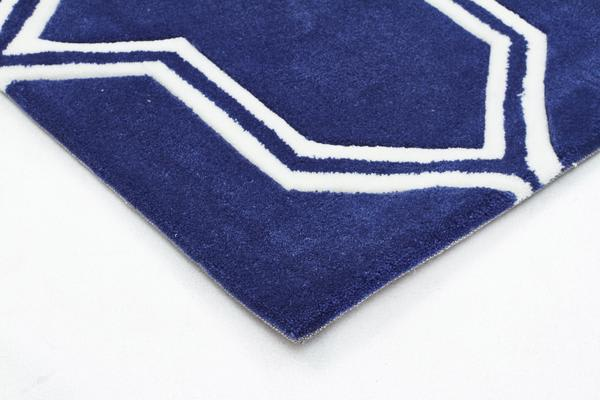 Neo Lattice Design Rug Navy 225x155cm
