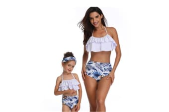 High Waisted Bathing Suit Mommy And Daughter Swimwear Bikini Sets - 1 L