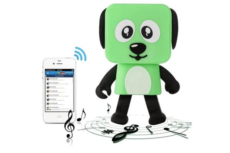 TODO Bluetooth V4.1 Dancing Robot Dog Speaker Portable Rechargeable - Green