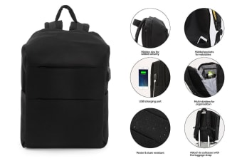 Ultimate Anti-Theft Defender Backpack with USB Port