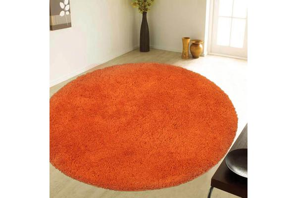 Texture Round Shag Orange 200x200cm
