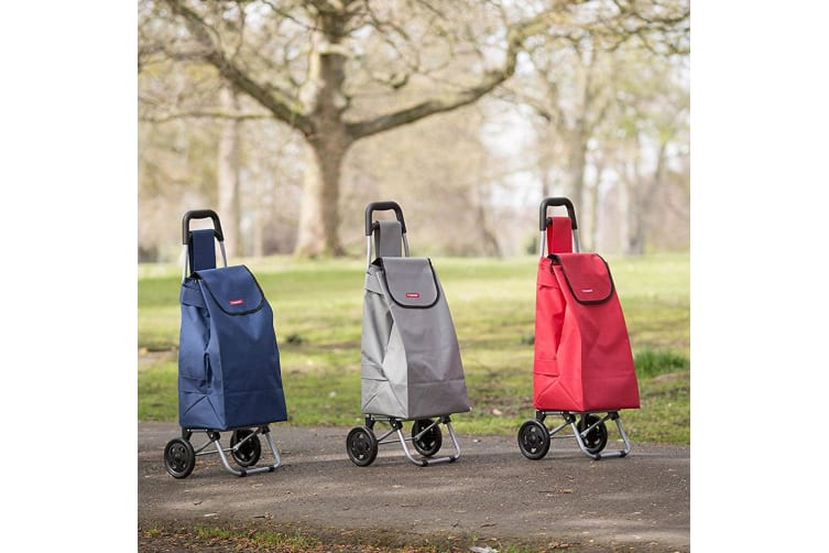 08c17af9a6a0 Typhoon Red Grocery Shopping Cart Trolley Portable Foldable Bag Basket w  Wheels