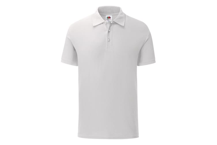 Fruit Of The Loom Mens Tailored Poly/Cotton Piqu Polo Shirt (White) (3XL)