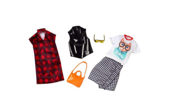 Barbie Choker Dress and Kitty Outfit Fashion 2 Pack