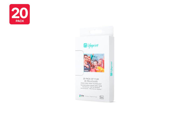 20 - Pack Lifeprint 3 x 4.5 Sticky Back Photo Film (90024865)