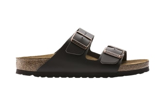 Birkenstock Arizona Natural Leather Sandal (Dark Brown, Size 44 EU)