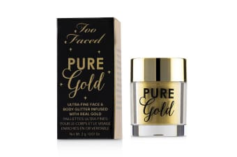 Too Faced Pure Gold Ultra Fine Face & Body Glitter Infused With Real Gold 2g/0.07oz