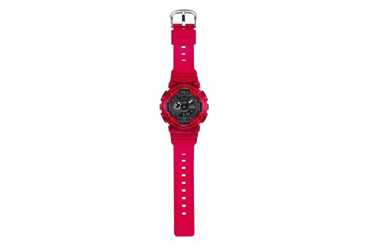 Casio Baby-G Analog Digital Aqua Planet Watch with Resin Band - Red (BA110CR-4A)