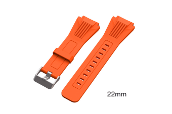 Select Mall Watch Straps Silicone Quick Release Soft Rubber Replacement Watch Bands Suitable for Huawei GT Watches-Orange
