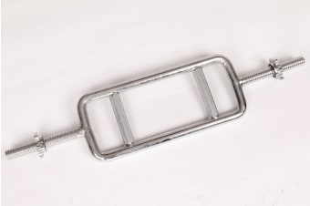 Chrome Tricep Bar Barbell Heavy Duty with Spinlock Collars