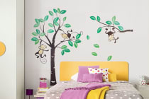 Bubbli Monkey Wall Decal