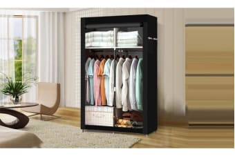 Large Portable Clothes Storage Organizer with Shelves Black (EJ0133)