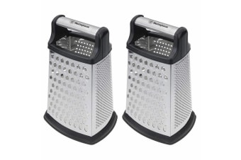 2x Westinghouse 4 Sided Multi-Grater Food Slicer/Cutter Kitchen Tool w Container