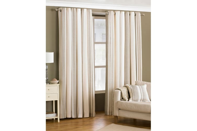 Riva Home Broadway Ringtop Curtains (Coffee) (46x54 (117x137cm))