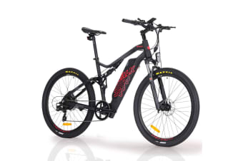 VALK 27.5 Inch Electric Bike Mountain Bicycle Lithium Battery e-Bike Dual Suspension