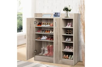 Artiss Shoe Cabinet Shoes Storage Rack Wooden Organiser Shelf 21 Pairs Cupboard