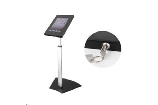 Brateck PAD12-05AL Anti-Theft Secure Enclosure Floor Stand iPads - Black with Adjustable Height