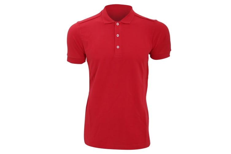 Russell Mens Stretch Short Sleeve Polo Shirt (Classic Red) (2XL)