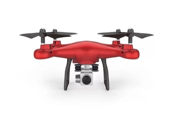 Four-Axis Aerial Drone Remote Control Helicopter Fpv Drone Red