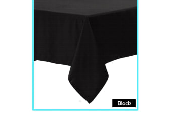 Polyester Cotton Tablecloth Black 160 x 310 cm