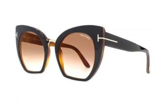 Tom Ford FT0553 - Black (Brown Mirror lens) Womens Sunglasses
