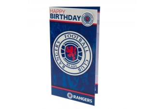 Rangers FC Birthday Card And Badge (Blue/White/Red)