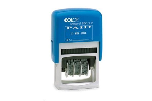 COLOP Date Stamp S260 L2 Paid Stamp Dual Colour