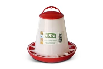 Supa Poultry Feeder (Red/White)