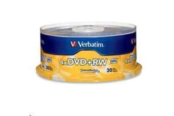Verbatim 94834 DVD+RW 30pk Spindle 4.7GB 4x