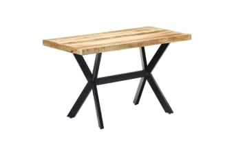vidaXL Dining Table 120x60x75 cm Solid Rough Mango Wood