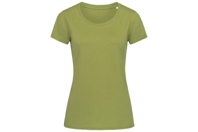 Stedman Womens/Ladies Janet Organic Crew Neck Tee (Earth Green) (M)