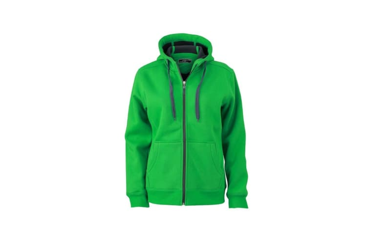 James and Nicholson Womens/Ladies Doubleface Jacket (Fern Green/Graphite) (M)