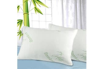 2 Pcs Luxury Memory Foam Bamboo Pillow 70 x 40 cm