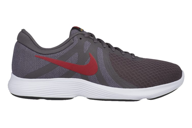 Nike Men's Revolution 4 Running Shoe (Grey/Black/White, Size 7.5 US)