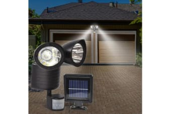 22 LED Outdoor Solar Powered Dual Light Flood Lamp
