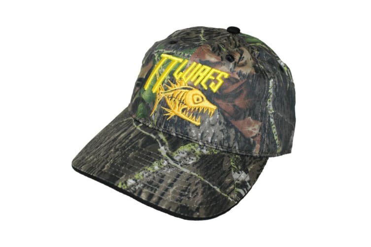 TT Lures Embroidered Sniper Camo Fishing Cap - 100% Cotton Fishing Hat